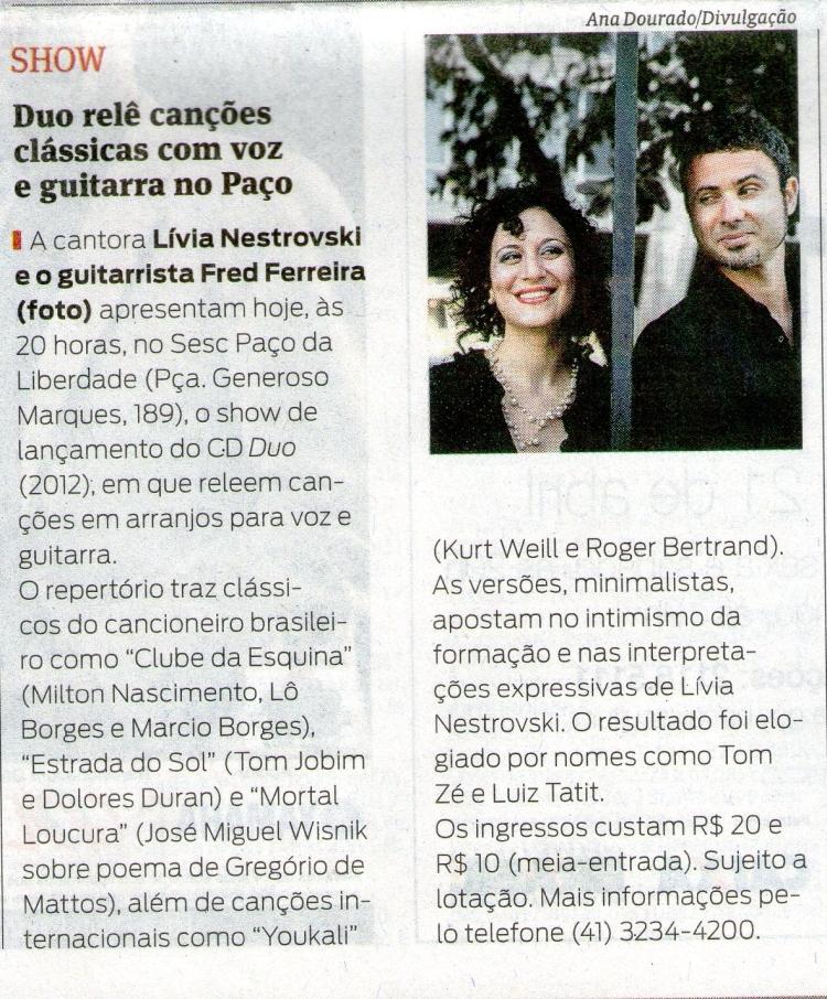 Gazeta do Povo 16 de abril de 2013