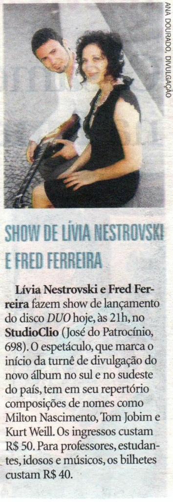 Zero Hora - Porto Alegre - 25 de abril